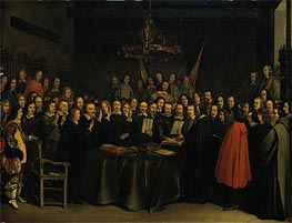 The Ratification of the Treaty of Munster, 15 May 1648, 1648 by Gerard ter Borch | Painting Reproduction