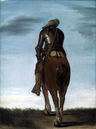 Man on Horseback, 1634 by Gerard ter Borch | Painting Reproduction
