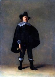 Portrait of a Gentleman in Black, c.1639/40 von Gerard ter Borch | Gemälde-Reproduktion