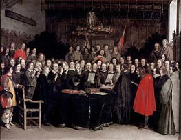 The Ratification of the Treaty of Munster, 1648 von Gerard ter Borch | Gemälde-Reproduktion