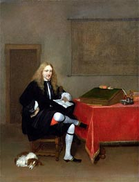 Portrait of a Man in his Study, c.1668/69 by Gerard ter Borch | Painting Reproduction