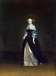 Portrait of Catarina van Leunink | Gerard ter Borch | Painting Reproduction