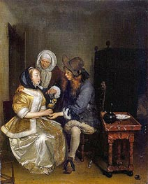 The Glass of Lemonade | Gerard ter Borch | Painting Reproduction