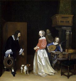 The Suitor's Visit | Gerard ter Borch | Painting Reproduction