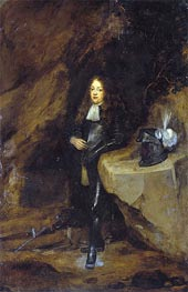 Portrait of a Man in Girds Himself | Gerard ter Borch | Painting Reproduction
