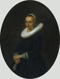 Portrait of Johanna Bardoel, 1644 by Gerard ter Borch   Painting Reproduction