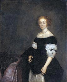 Portrait of Aletta Pancras, 1670 by Gerard ter Borch   Painting Reproduction