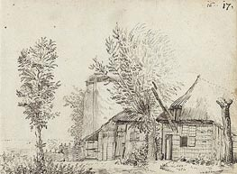 Farmer House, c.1631/34 by Gerard ter Borch   Painting Reproduction