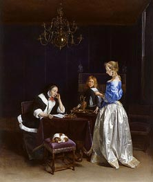 The Letter, c.1660/62 by Gerard ter Borch   Painting Reproduction