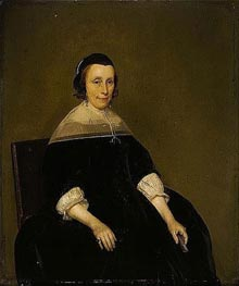 Portrait of a Lady, c.1650 by Gerard ter Borch   Painting Reproduction