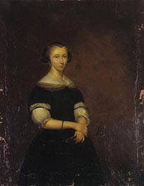 Portrait of a Lady, c.1670 by Gerard ter Borch   Painting Reproduction