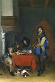 An Officer Dictating a Letter, c.1655/58 by Gerard ter Borch | Painting Reproduction