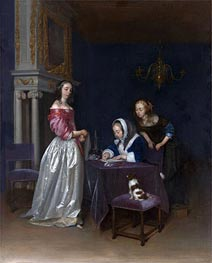 Curiosity, c.1660/62 by Gerard ter Borch | Painting Reproduction