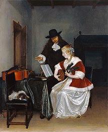 The Music Lesson | Gerard ter Borch | Painting Reproduction