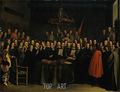 The Ratification of the Treaty of Munster, 15 May 1648, 1648 | Gerard ter Borch | Painting Reproduction