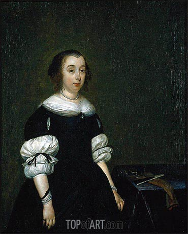 Portrait of a Woman, 1681 | Gerard ter Borch | Painting Reproduction