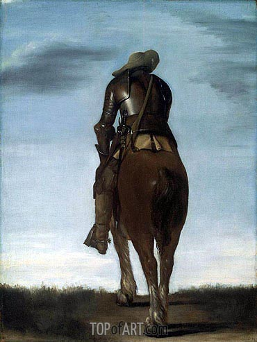 Man on Horseback, 1634 | Gerard ter Borch | Painting Reproduction