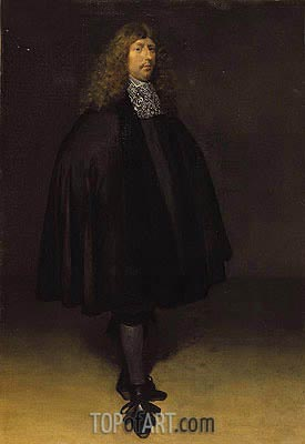 Self Portrait, c.1668 | Gerard ter Borch | Gemälde Reproduktion