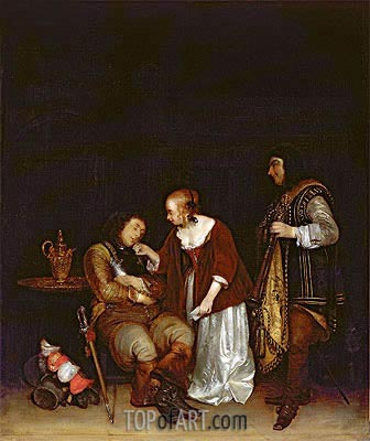 The Sleeping Soldier, c.1656/57 | Gerard ter Borch | Painting Reproduction