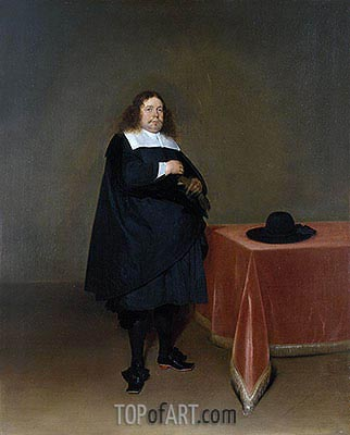 Burgomaster Jan van Duren, c.1666/67 | Gerard ter Borch | Painting Reproduction