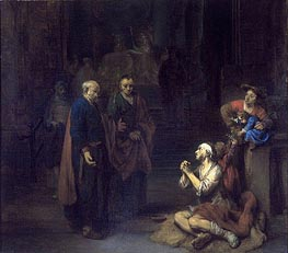 St. Peter Healing the Lame, 1667 by Gerbrand van den Eeckhout | Painting Reproduction