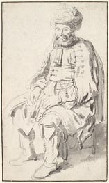 A Seated Man in Middle Eastern Costume | Gerbrand van den Eeckhout | Gemälde Reproduktion