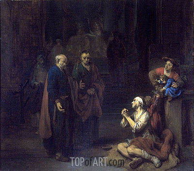 St. Peter Healing the Lame, 1667 | Gerbrand van den Eeckhout | Painting Reproduction
