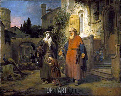 The Expulsion of Hagar and Ishmael, 1666 | Gerbrand van den Eeckhout | Painting Reproduction