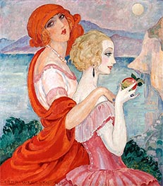 On the Anacapri Road, 1922 by Gerda Wegener | Painting Reproduction