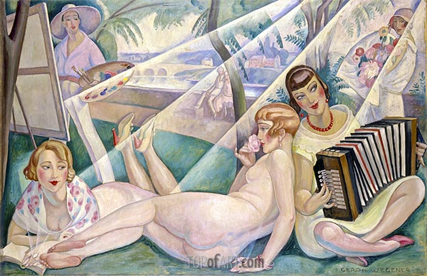 A Summer Day, 1927 | Gerda Wegener | Painting Reproduction