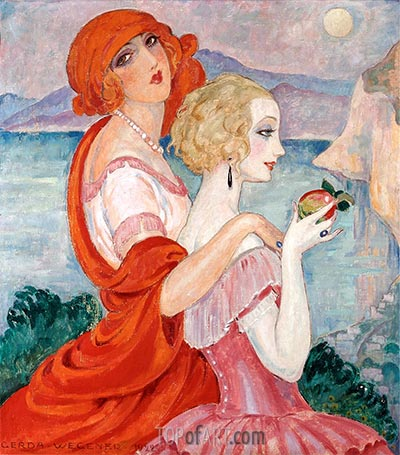 On the Anacapri Road, 1922 | Gerda Wegener | Painting Reproduction