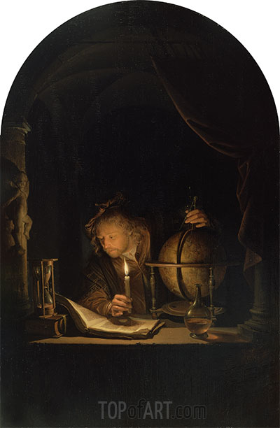 Astronomer by Candlelight, c.1655/59 | Gerrit Dou | Painting Reproduction