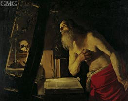 Saint Jerome | Gerrit van Honthorst | Painting Reproduction