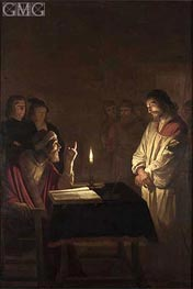 Christ Before the High Priest | Gerrit van Honthorst | Painting Reproduction