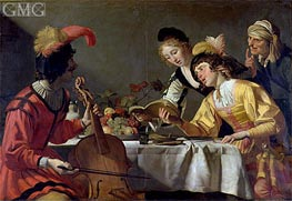 Concert, c.1626/30 by Gerrit van Honthorst | Painting Reproduction