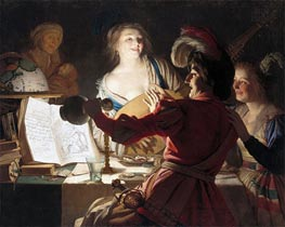 The Debauched Student, 1625 by Gerrit van Honthorst | Painting Reproduction