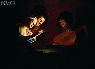 Concert, undated | Gerrit van Honthorst | Painting Reproduction