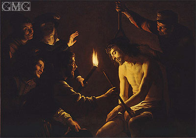 The Mocking of Christ, c.1617 | Gerrit van Honthorst | Painting Reproduction