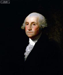 George Washington, 1796 von Gilbert Stuart | Gemälde-Reproduktion