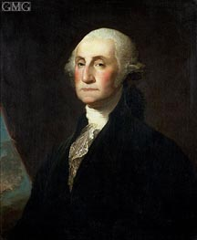 Portrait of George Washington, b.1801 by Gilbert Stuart | Painting Reproduction