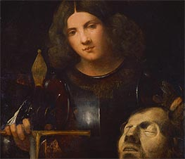 David with the Head of Goliath, c.1510 by Giorgione | Painting Reproduction