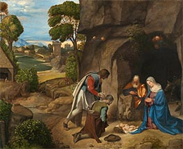 The Adoration of the Shepherds, c.1505/10 by Giorgione | Painting Reproduction