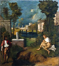 The Tempest, c.1505 by Giorgione | Painting Reproduction