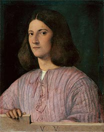 Portrait of a Young Man (Giustiniani Portrait), Undated by Giorgione | Painting Reproduction