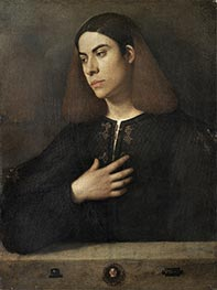 Portrait of a Young Man (The Broccardo Portrait), c.1508/10 by Giorgione | Painting Reproduction