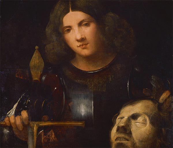 David with the Head of Goliath, c.1510 | Giorgione | Painting Reproduction