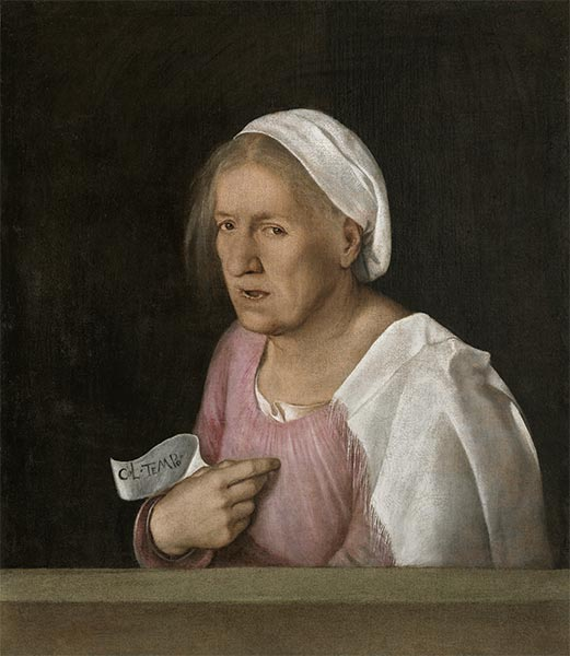 Portrait of an Old Woman, c.1502/08 | Giorgione | Painting Reproduction