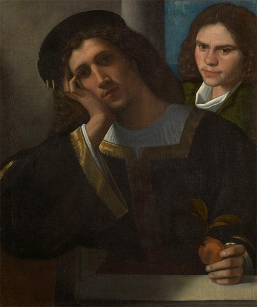 Two Friends, c.1502 | Giorgione | Painting Reproduction