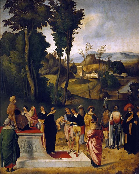 Moses undergoing Trial by Fire, c.1505 | Giorgione | Painting Reproduction