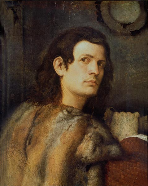 Portrait of a Young Man, c.1510 | Giorgione | Painting Reproduction